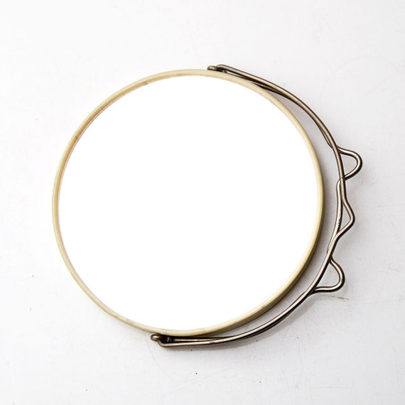 Small Round Table Mirror for Traveling