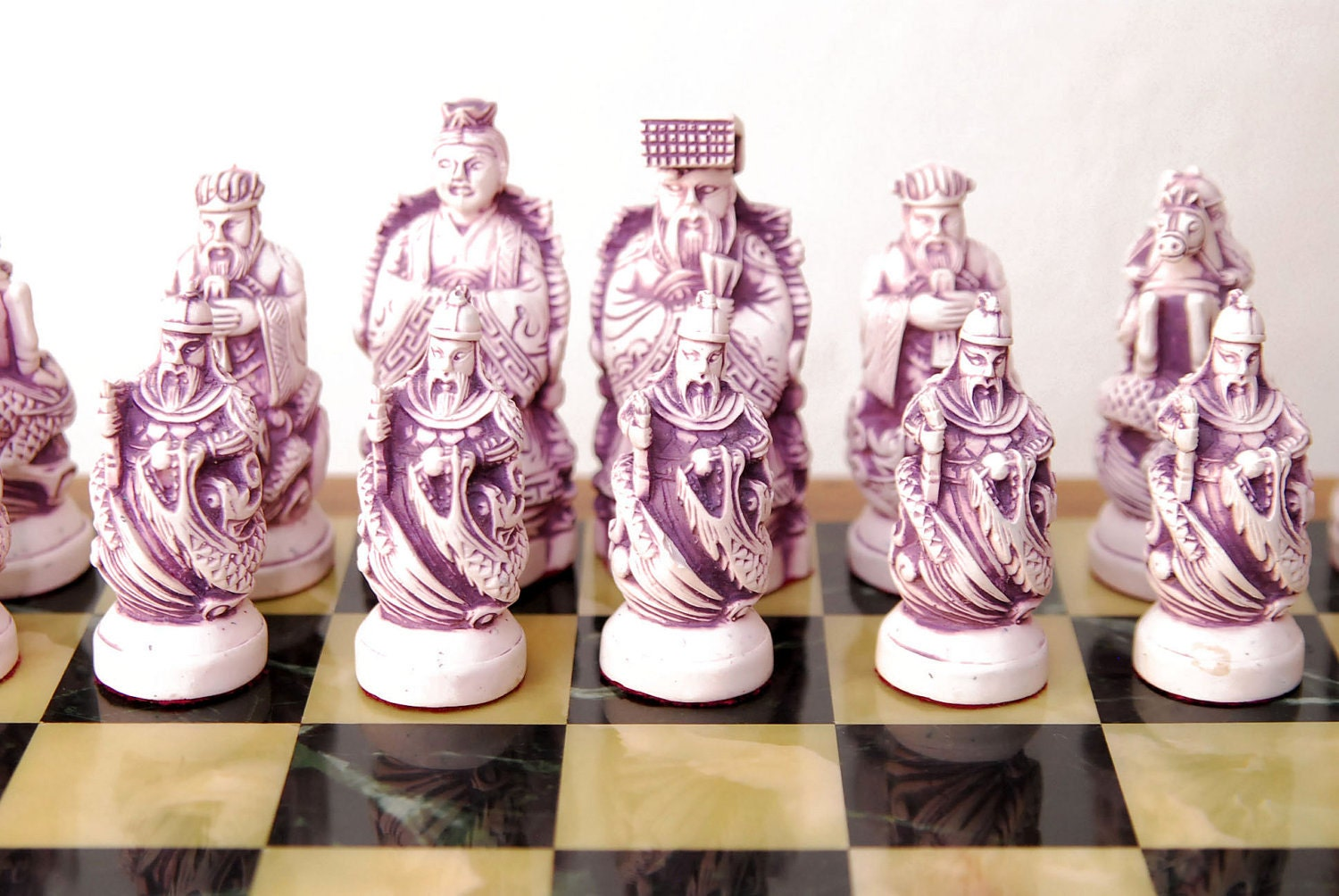 Sale vintage soapstone korean chess set hinged case board - Ceramic chess sets for sale ...