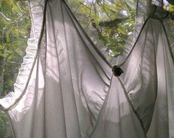 Romantic Pale Green and Ruffled Kickernick Nightgown