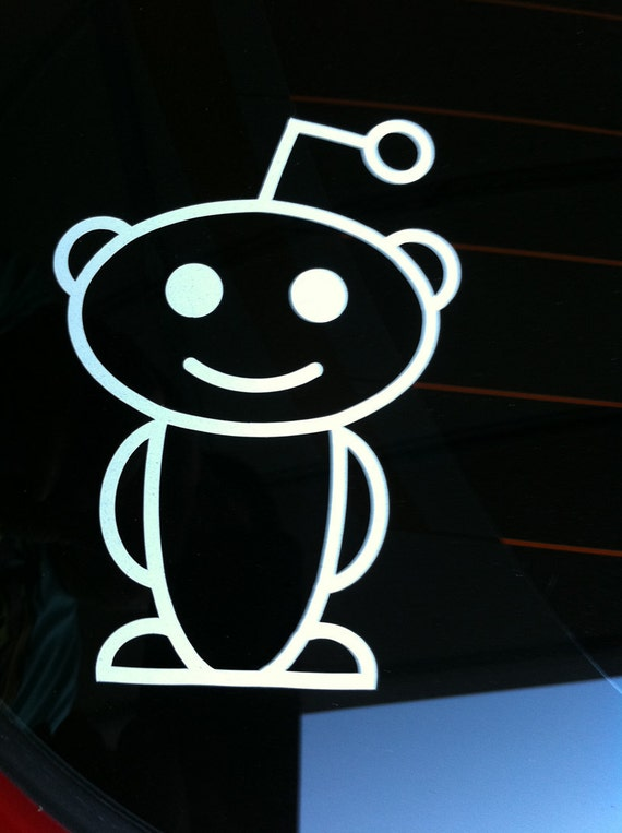 Reddit Snoo Alien Vinyl Decal