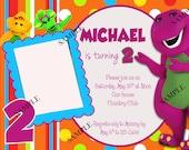 Barney and Friends Birthday Invitation - Digital - You Print