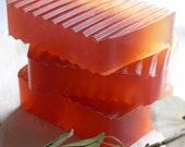 Cranberry Orange Soap -- glycerin soap bar