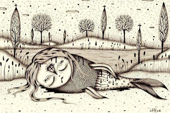 The last Mermaid (limited edition print) 7/15