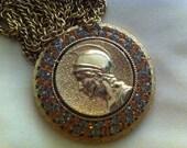 Vintage 60s Roman Soldier pendant/necklace