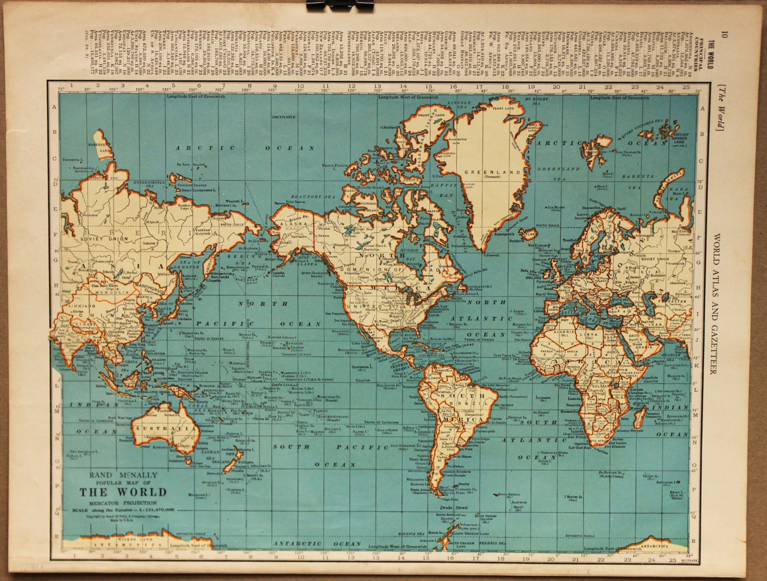 vintage world atlas related - photo #16