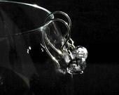 OOAK Simple  Sterling Silver and Black Rutilated Quartz  Dangle Earrings