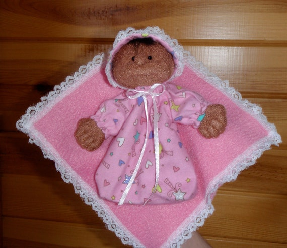 Finger Puppet - African American Soft Sculpture Baby Doll