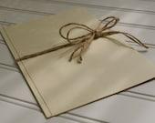 Jute Twine Tied Wedding. Kraft Paper. Rustic Wedding. Wedding Ceremony Program. Shabby Chic Wedding.