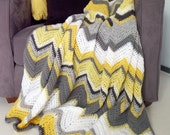MADE TO ORDER 1-2p afghan crochet chevron blanket