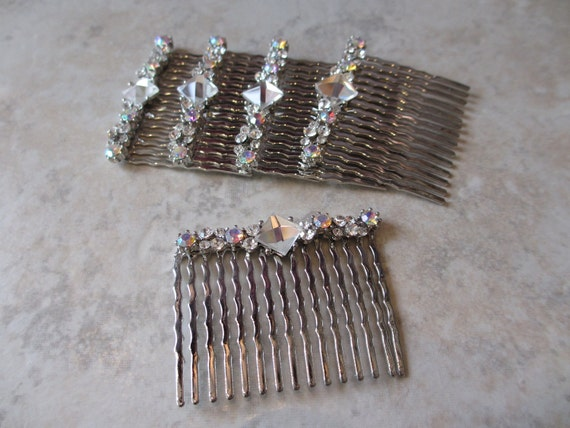 Bridesmaid Hair Combs - SOLD INDIVIDUALLY  Bridal, Wedding, Rhinestone, Vintage Inspired, Bridal Hair Accessories, Bridesmaid Gifts