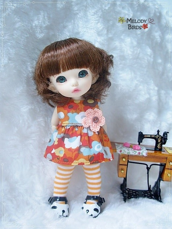 Floral Set / Outfit for Lati yellow, PukiFee
