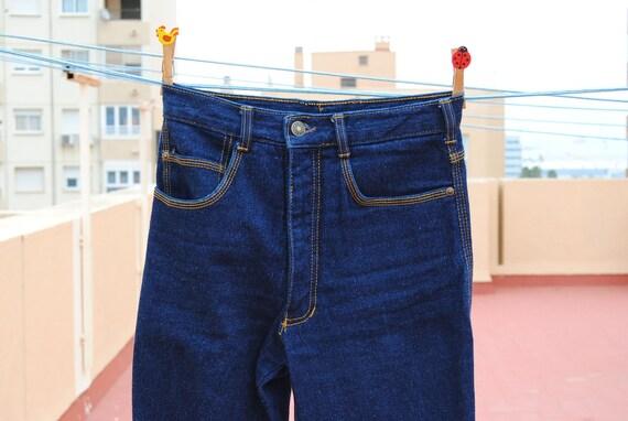 Vintage 60-70 High Waist Denim Jeans Pants Bottom Line