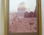 Vintage Gold Framed Photograph of the Dome of the Rock in Jerusalem
