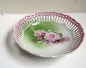 Pre World War II German Porcelain Reticulated Dish