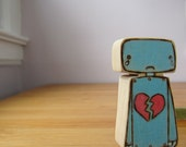 Broken Hearted Wooden Robot