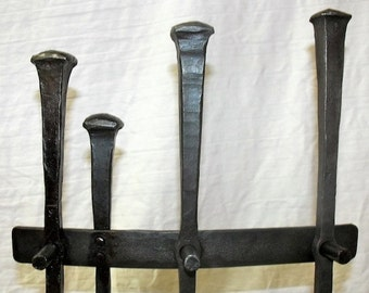 Rustic Wrought Iron Fireplace Tool Set