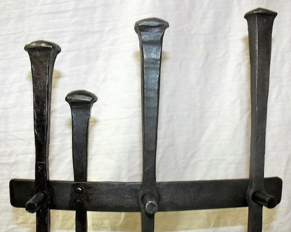 Rustic Wrought Iron Fireplace Tool Set - Wrought Iron Fireplace Tool Set
