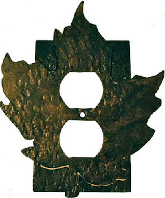 Wrought Iron Maple Outlet Cover