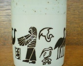 70s Egyptian Hieroglyphs Mug