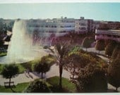 Vintage Israeli Postcard - Dizengoff Circle, Tel Aviv, Israel 1958 - Fountain UNUSED