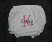 Diaper Cover Embroidered 0-6 Months, 6-12 months, 12-18 months, 18-24 months (2T), 3T or 4T  Monogrammed Name Initial