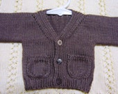 Baby Boy Cardigan & Matching Hat Baby Shower / Gift Set
