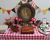Woodland Dessert Table Do it Yourself Party Kit and Bonus Party Game