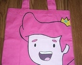 RESERVED SALE- for Marina Lopez- Adventure Time Hand Painted Prince Gumball Tote