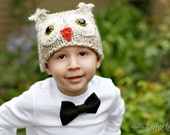 Crochet Baby Owl Hat Newborn to 4T