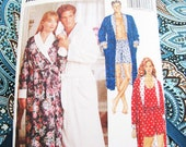 Pattern Butterick 5189 Sewing Robe - NEW  Factory Folds - Unisex - Fast and Easy 1990 Sizes Large to XL