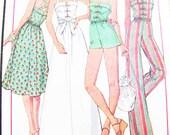 Pattern McCall's 5539 Dress Jumper Jumpsuit  QUICK & Easy SUMMER Miss 12  Brand NEW // Factory Folds // Retro Boho 1977