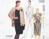 Pattern McCall's 4030 Jacket Skirt PantsTop EASY Miss - RARE - Half Sz Med 12 14 16 - NEW - Factory Folds 1988 Beg. Friendly