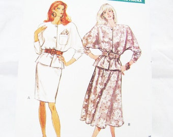 Pattern  Butterick 6669 Top Skirt FAST & Easy - NEW Factory Folds - Sz 12 14 16 BEGINNER Friendly 1988