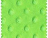 "Lime Minky Dot Fabric 60"" wide 1 yd"