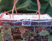 UNION JACK London Transport purse - handmade