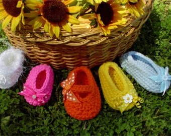 Crochet Baby Bootie Pattern PDF Fanci-Flats Baby and Toddler Girl Shoe Bootie Downloadable Pattern