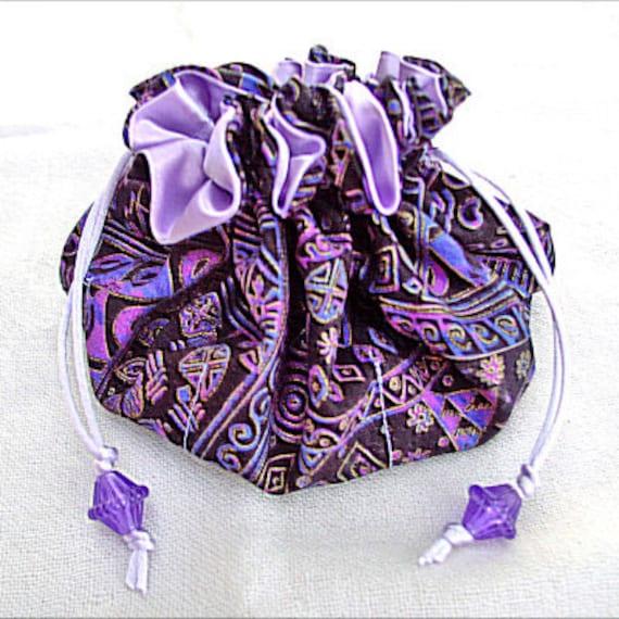 sewing pattern pdf double drawstring jewelry pouch trinket On fabric jewelry pouch pattern