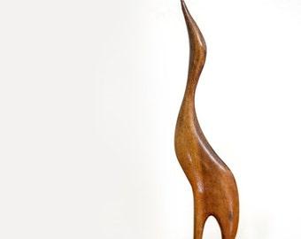 Wooden Bird Sculpture - Mid Century