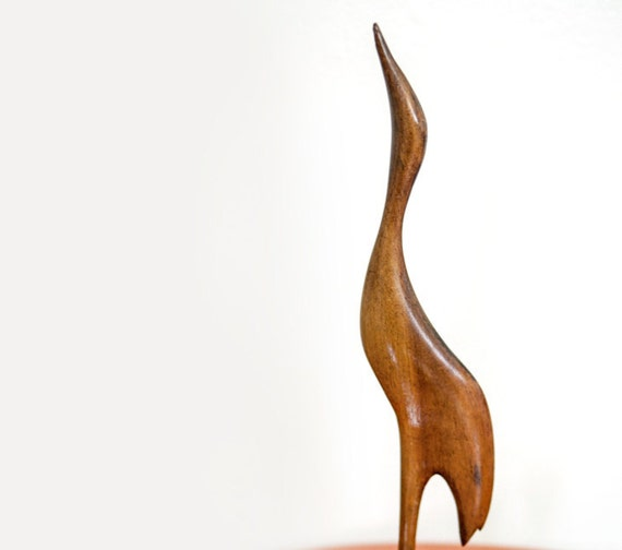 Wooden Bird Sculpture - Mid Century