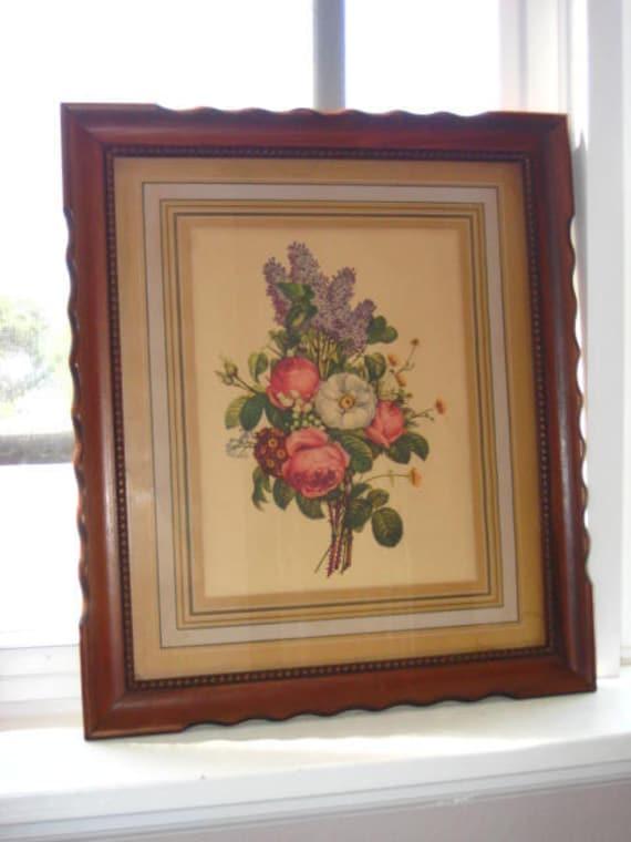 Vintage J. L. Prevost Botanical print... Lilacs and Roses