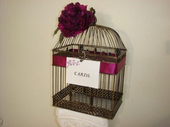 Wedding Birdcage Card Holder - Beautiful Antique Style Vintage Inspired Birdcage Card Holder