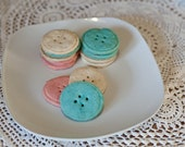 12 Shortbread Button Cookies