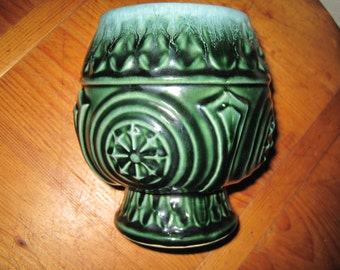 Vintage Hull Green & Blue Planter/Vase