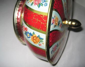 Vintage Candy Tin Container - Made in England