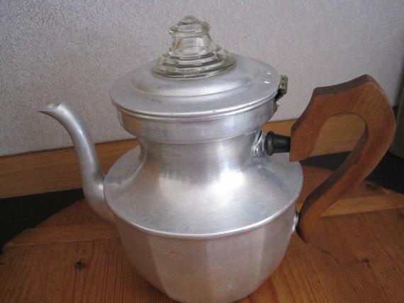 Vintage Viko Aluminum Percolator Coffee Pot