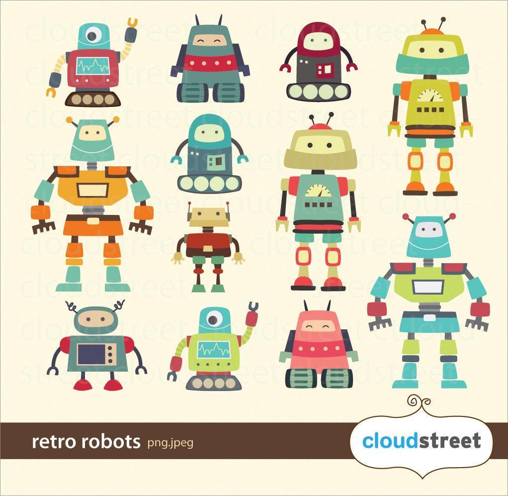 cute robot clipart - photo #17