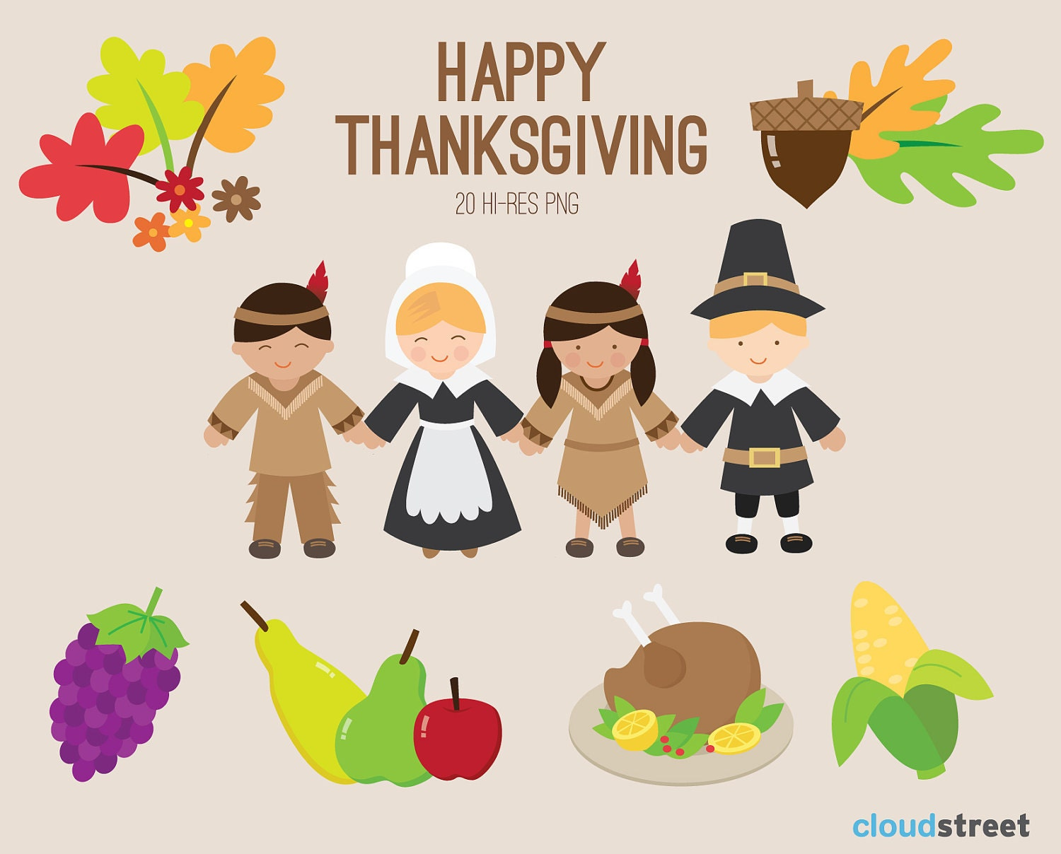 happy thanksgiving clip art - photo #5
