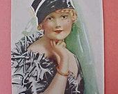 "Special Sale-Darling Vintage Print of 1920's Flapper Girl: ""After the Opera"""