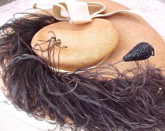 Lovely Black Beaded Edwardian Era Mourning Hatpin