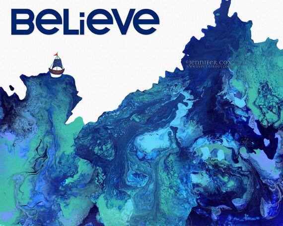 believe ORIGINAL ACRYLIC on CANVAS